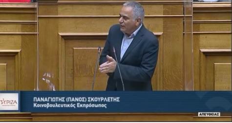 Ομιλία Κοινοβουλευτικού Εκπροσώπου ΣΥΡΙΖΑ – Προοδευτική Συμμαχία.